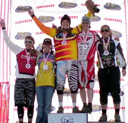 Il podio femminile della Sea Otter Classic 2007