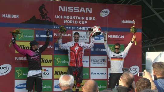 Il podio del 4X maschile ©DirtMag.co.uk