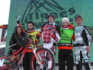 Il podio della Tignes Airwaves (foto team Sunn)