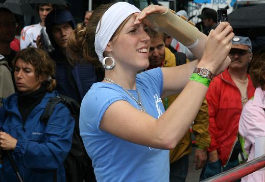 Rachel Atherton dopo l'incidente di Vigo, nel 2007