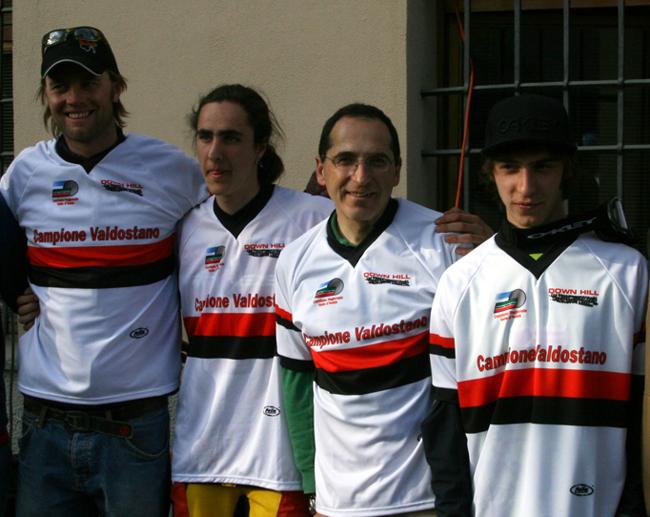 Rob Bickerdike, Julien Juglair, Carlo ed Edoardo Franco sono i nuovi campioni valdostani